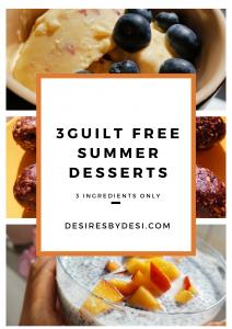 3 здравословни и летни десертa с 3 съставки