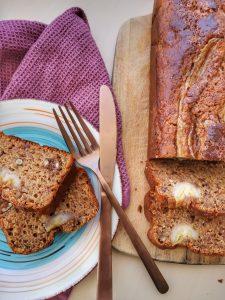 Бананов хляб (banana bread) с ядки и стафиди. Лесна и бърза рецепта.